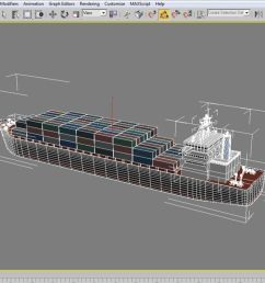 cargo ship royalty free 3d model preview no 12 [ 900 x 900 Pixel ]