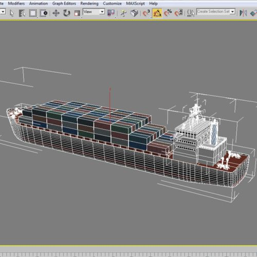 small resolution of cargo ship royalty free 3d model preview no 12