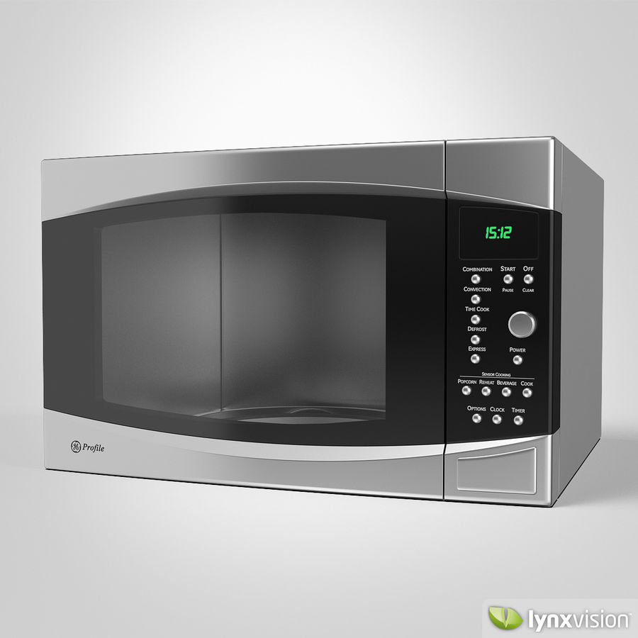 ge profile microwave oven 3d model 22