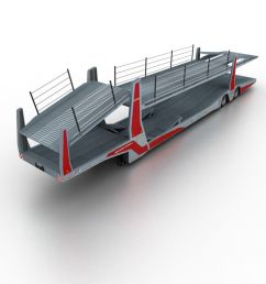 trailer car transporter royalty free 3d model preview no 1 [ 900 x 900 Pixel ]