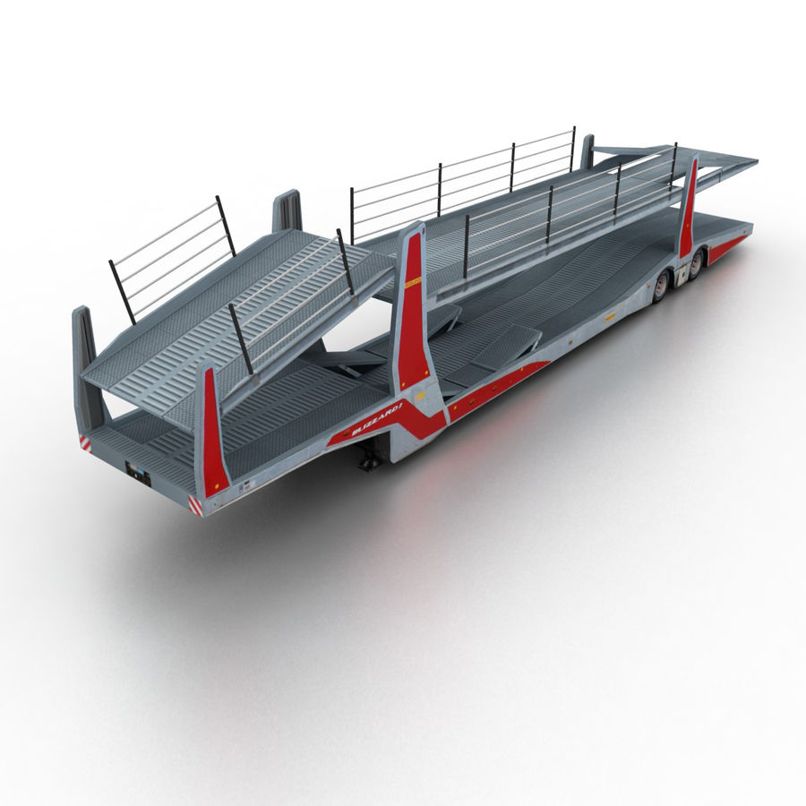 hight resolution of trailer car transporter royalty free 3d model preview no 1