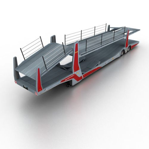 small resolution of trailer car transporter royalty free 3d model preview no 1