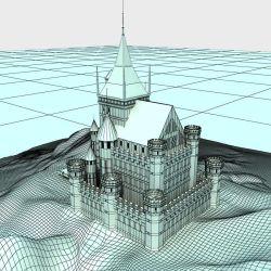 Castle Medieval Fantasy with Landscape 3D Model $79 obj fbx max Free3D