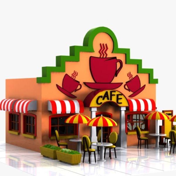 Cartoon Cafe 2 3d Model 15 - .unknown .obj .max .fbx .3ds