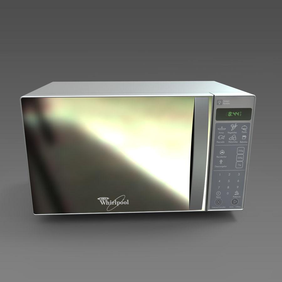whirlpool microwave wm1207d 3d model