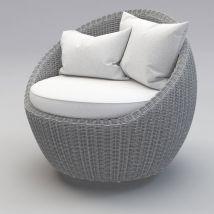 Luna Patio Rattan Chair 3d Model 24 - .obj .max Free3d