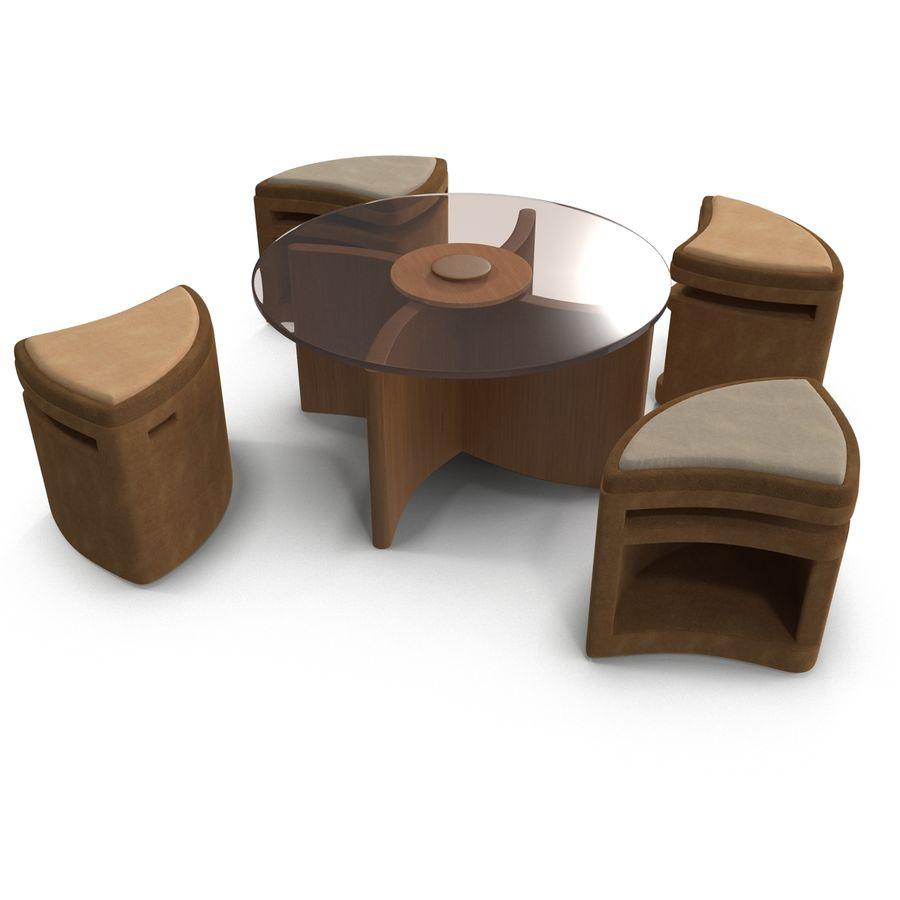 seating underneath 3d model