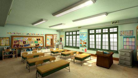 Cartoon classroom school 3D Model $199 unknown obj ma Free3D