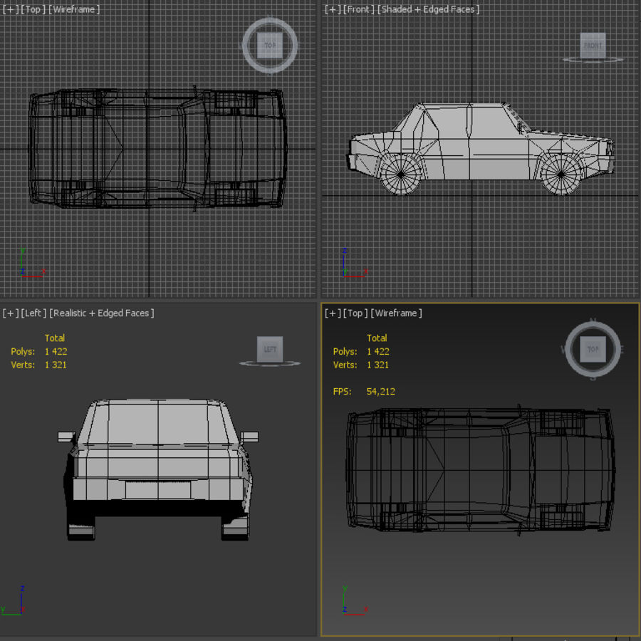 medium resolution of simple car royalty free 3d model preview no 6