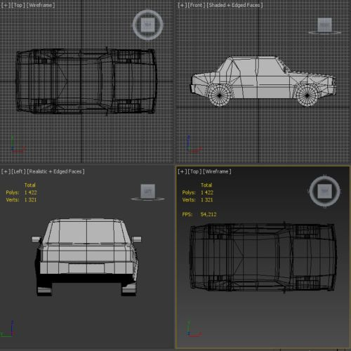 small resolution of simple car royalty free 3d model preview no 6