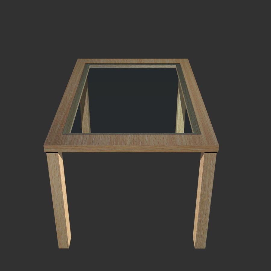 glass wooden table 3d model 39 obj
