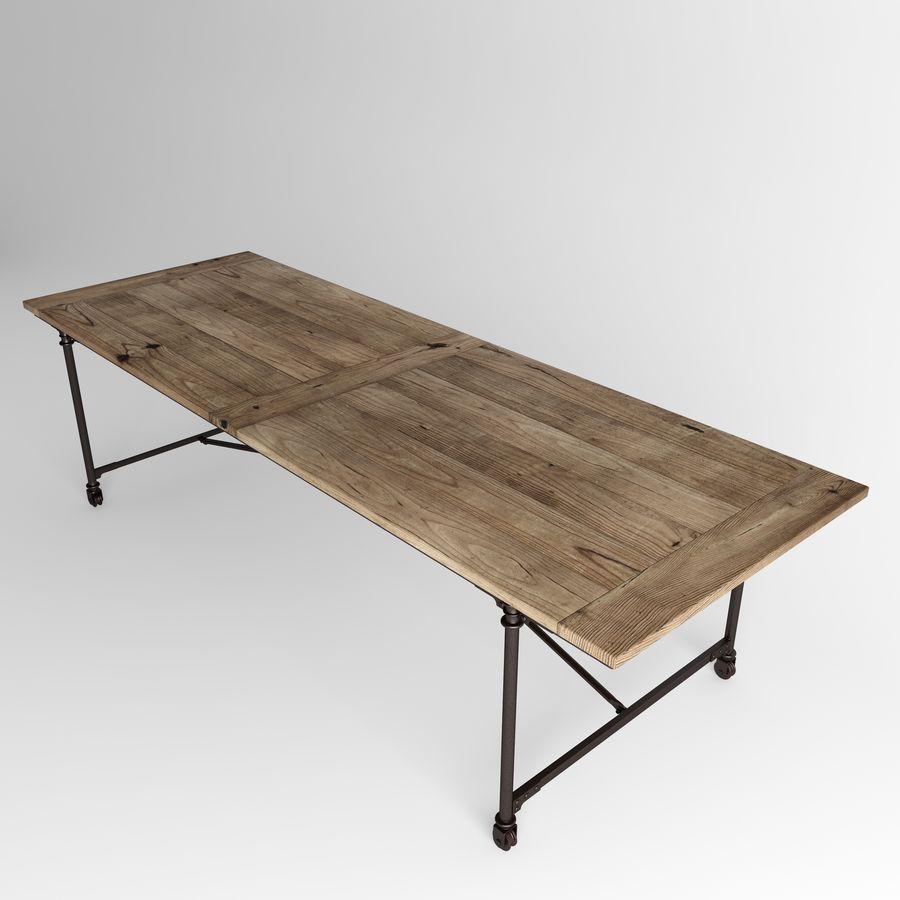 FLATIRON RECTANGULAR DINING TABLE Rust Metal 3D Model 18