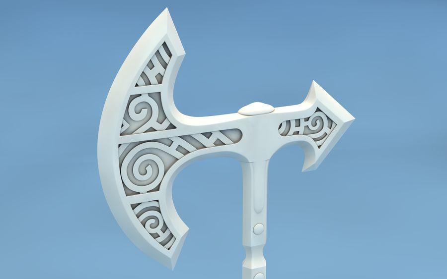 Dessin à imprimer pour le coloriage d'un viking aux grosses moustache , casque à cornes sur la tête et hache en mains. Hache Viking De Skyrim Modele 3d 14 C4d Free3d