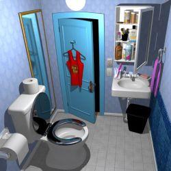 Cartoon Bathroom 3D Model $39 fbx ma Free3D