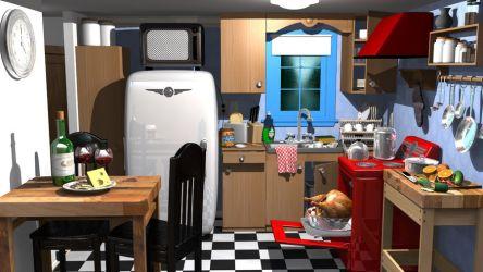 Cartoon kitchen 3D Model $49 ma fbx Free3D