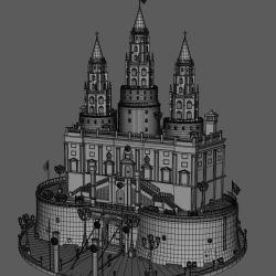 Medieval Fantasy Castle 3D Model $29 max fbx obj ma Free3D