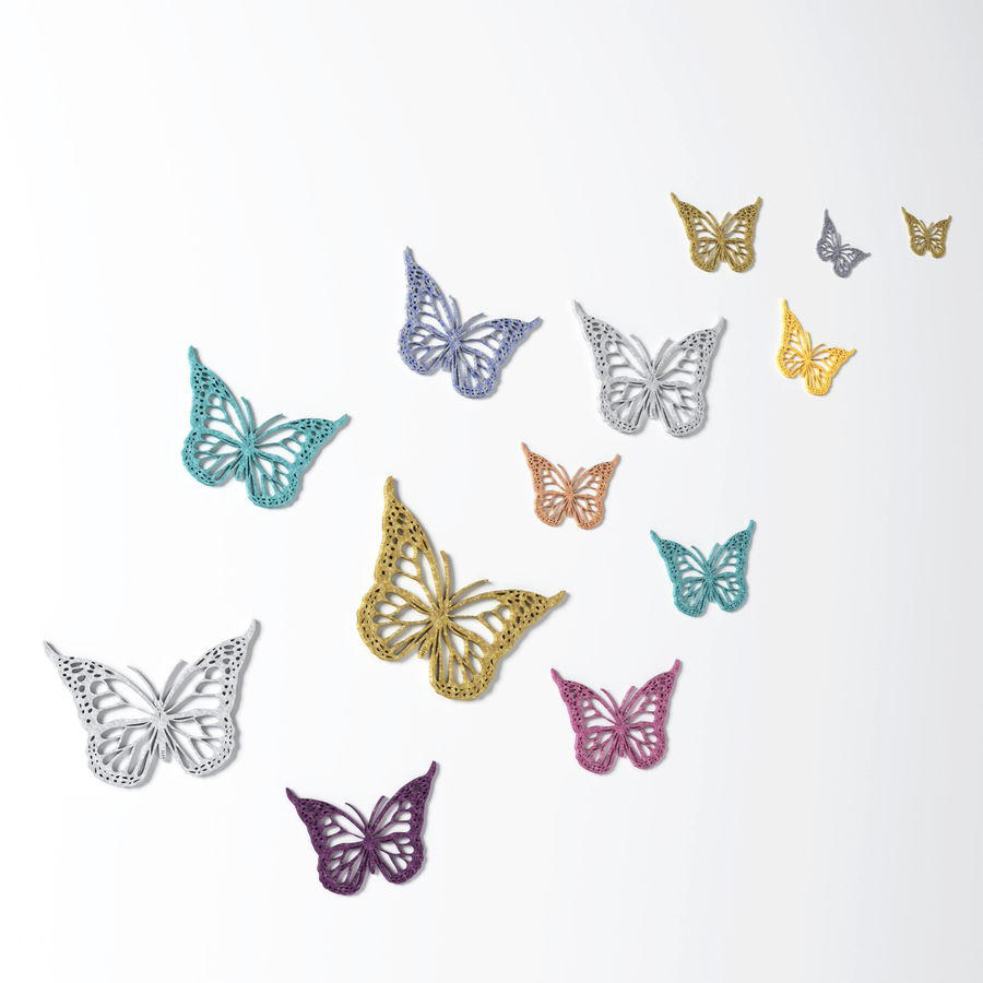 Butterfly Wall Decoration Wall Art 3d Model 15 Obj Fbx Dae 3ds Unknown Free3d
