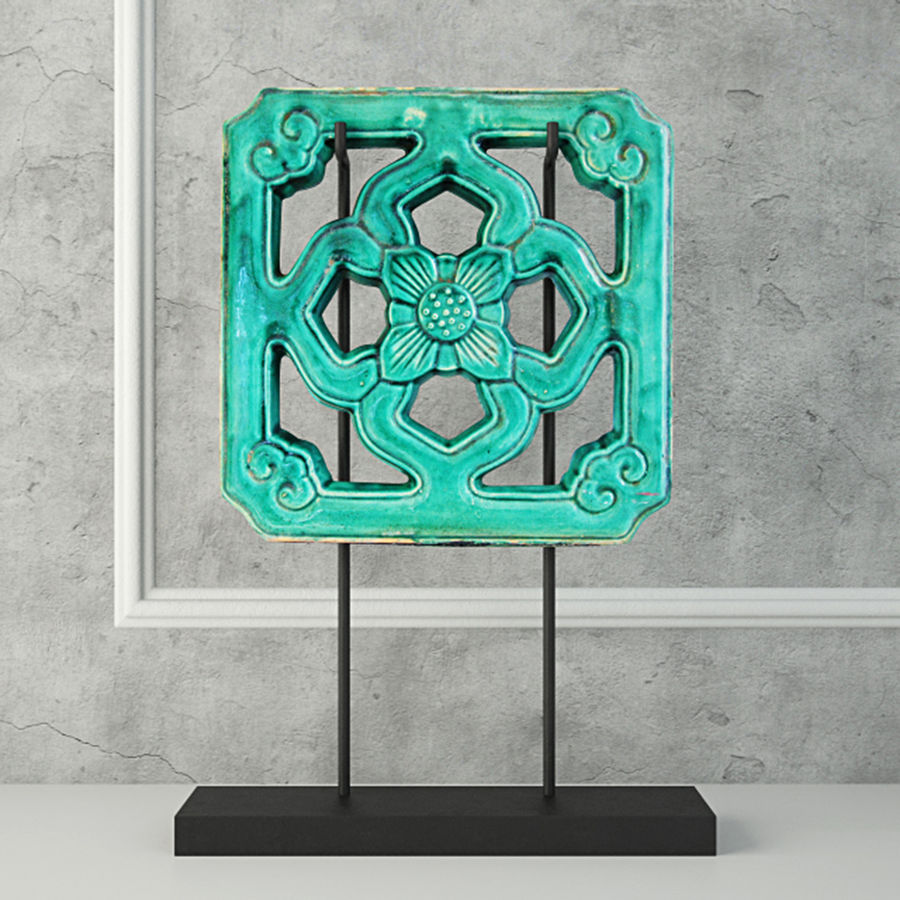 emerald green chinese glazed temple