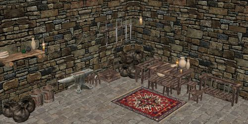Medieval Village house Interior objects 3D Model $16 obj fbx 3ds max unknown Free3D
