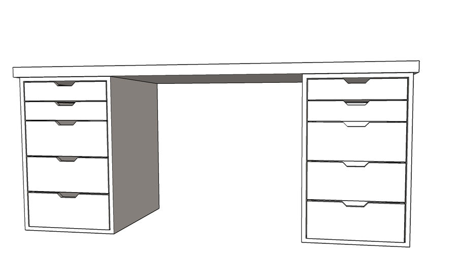 Nel nostro assortimento trovi un'ampia scelta di scrivanie, tavoli,. Scrivania Per Ufficio Ikea Modello 3d 5 Max Skp Free3d