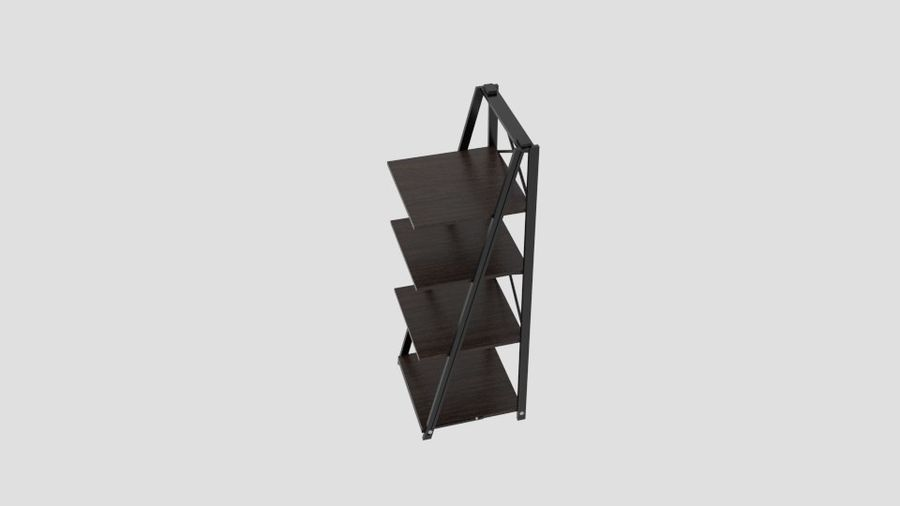 origami folding decorative 4 shelf rack