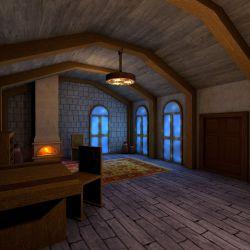 Medieval Living Room Interior 3D Model $99 c4d Free3D