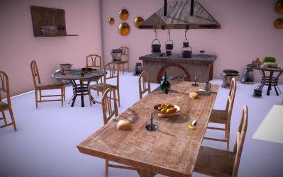 Medieval Kitchen Low Poly AR VR Asset Pack VR / AR / low poly 3D model 3D Model $25 fbx obj unknown blend Free3D