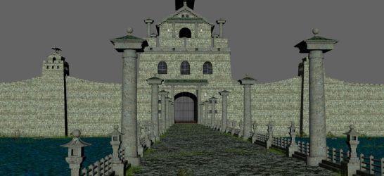 Asian Fantasy Castle Gate 3D Model $39 c4d obj fbx oth max ma Free3D