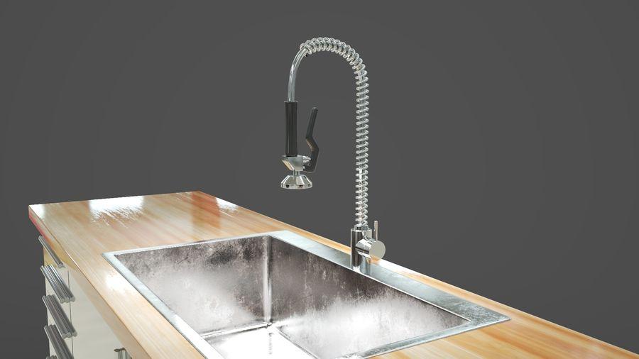industrial kitchen sink 3d model 29