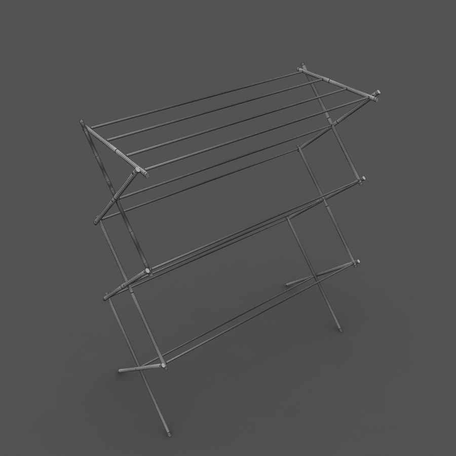foldable clothes drying laundry rack 3d