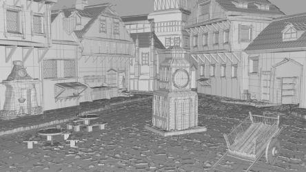 Medieval Village Scene 3D Model $30 ma Free3D