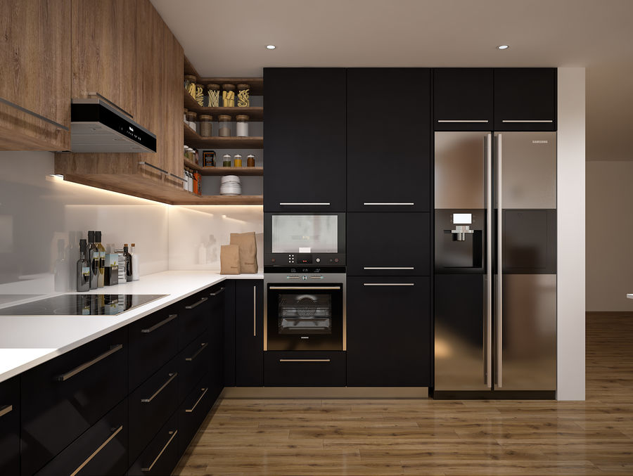 cuisine moderne modele 3d 15 3ds