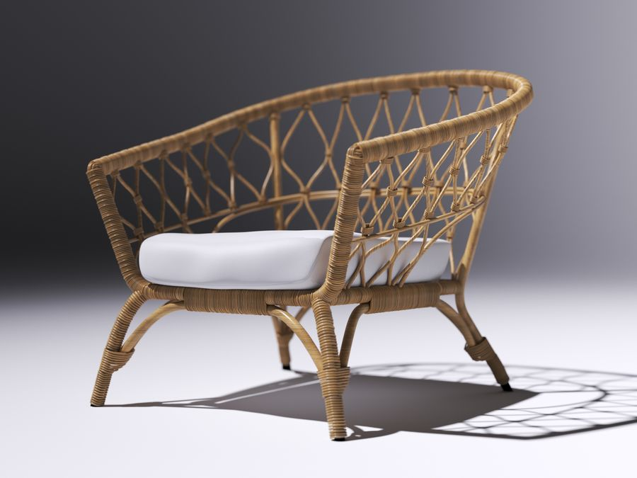 fauteuil ikea stockholm 2017 modele 3d