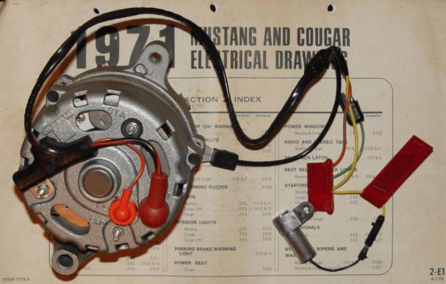 Rear Wiring On Alternator 1971 351c