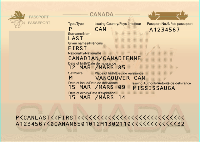Canada Passport PSD Template