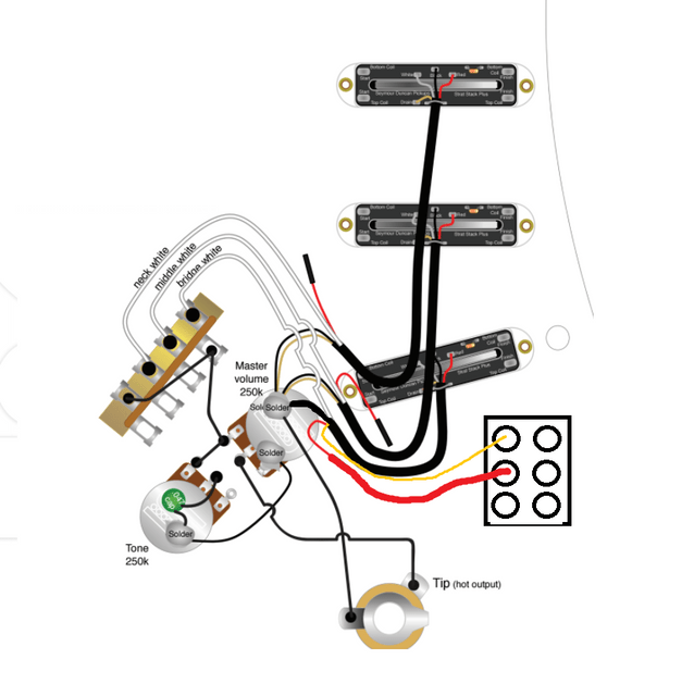 Wiring Diagram help S+S+Stack with DPDT switch