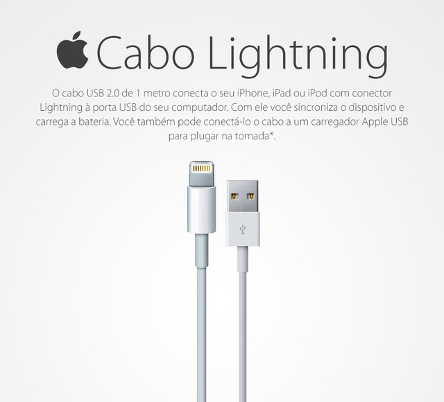 Cabo Dados Usb Original Apple Iphone 5 5s 6 7 Ipad Ipod