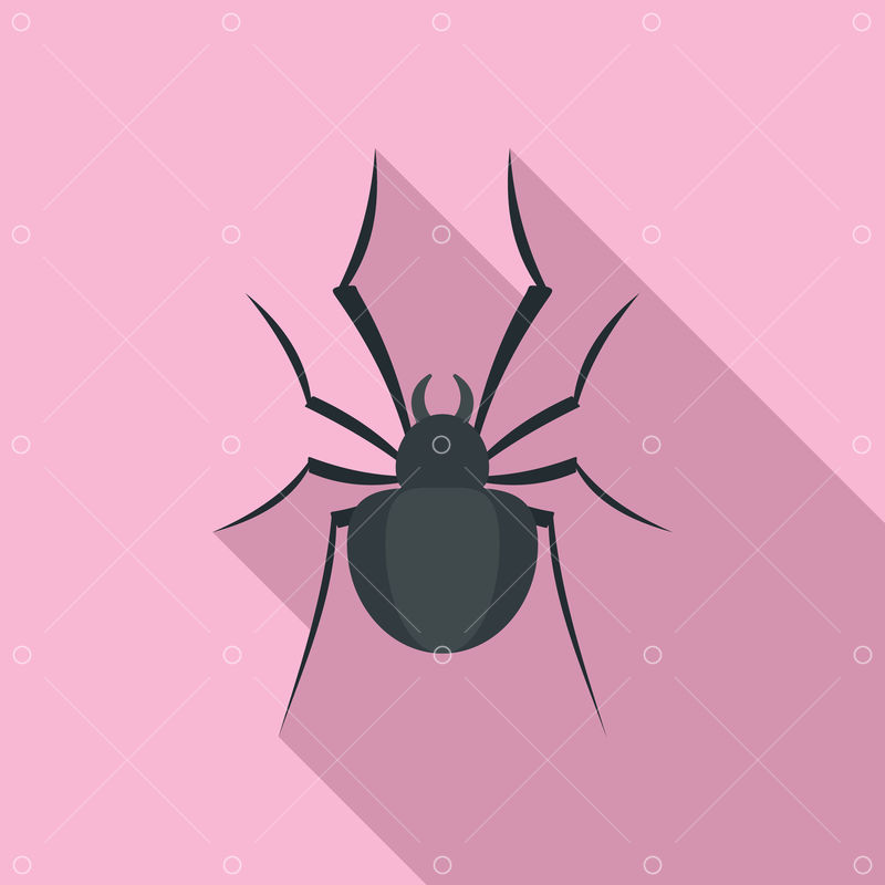Black House Spider Icon Flat Illustration Of Black House Spider Icon For Web Design Image Stock By Pixlr