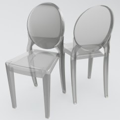 Armless Ghost Chair Ikea Ekero Covers 3d Model