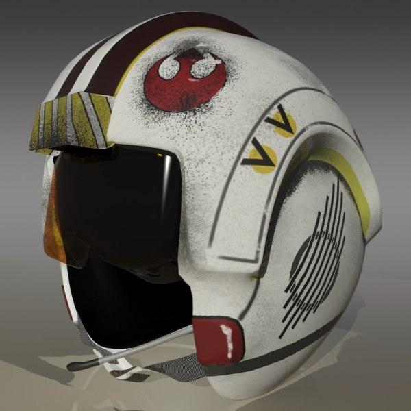 3d Model Luke X Wing Pilot Helmet