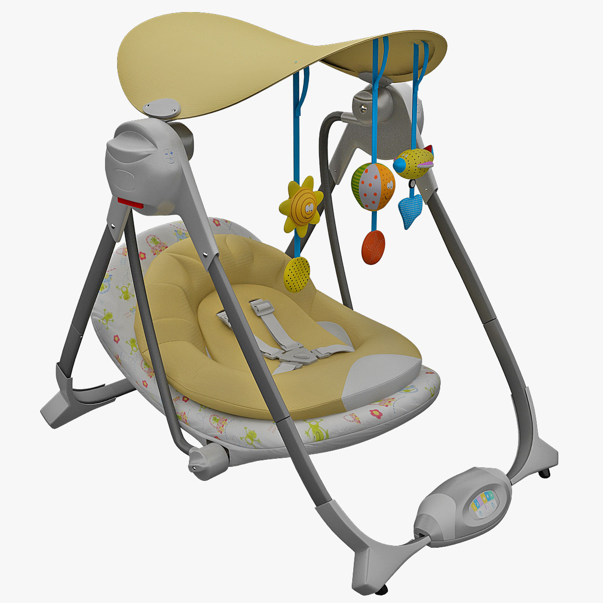 walker bouncing chair indoor swing canada 3d obj bouncy chicco polly