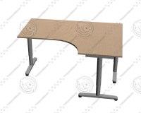 3d ikea galant desk right model