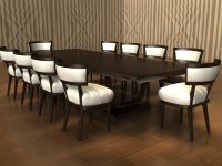 oriental dining table 3d 3ds