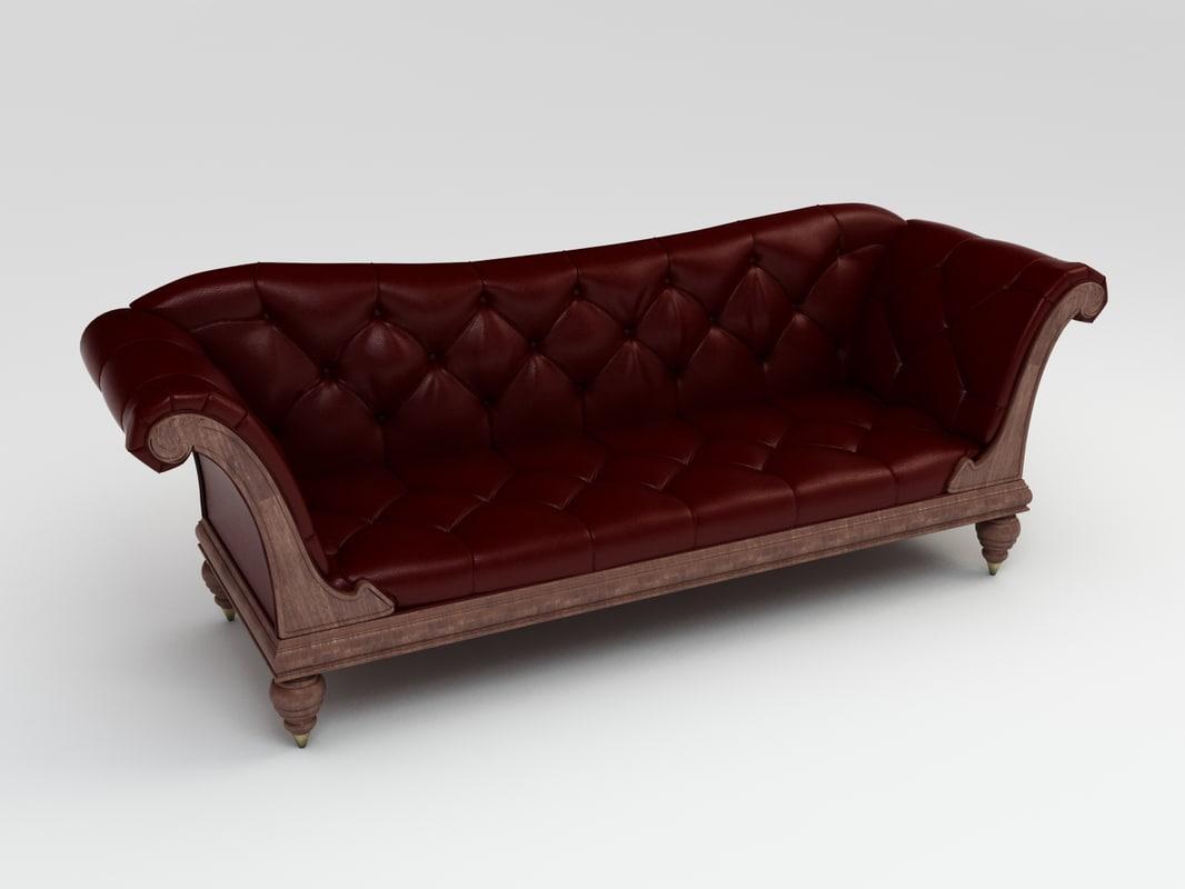 baker track arm sofa modern sofas australia serolled furniture 3d model