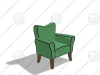 simple cartoon chair max