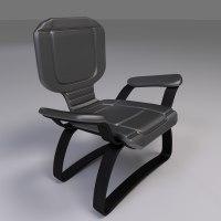 3d futuristic chair