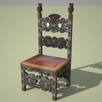 medieval chair 3d 3ds