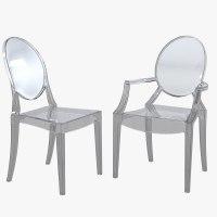 3d model kartell ghost dining chair