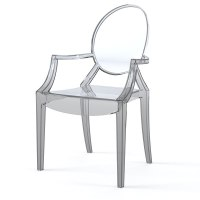 kartell ghost philippe starck 3d max