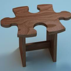 Chair Stool Crossword Pier One Blue Accent Chairs 3d Puzzle Model